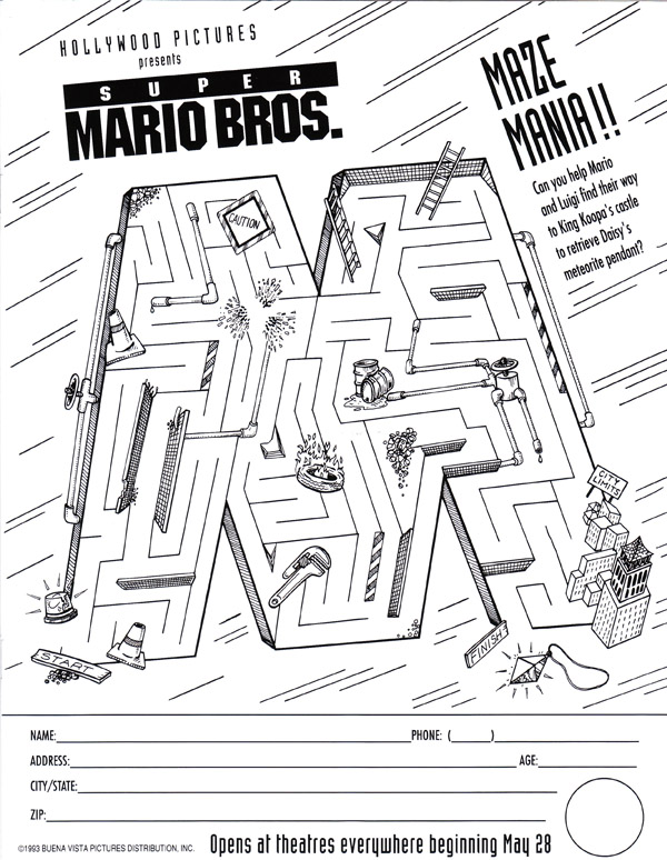 Super Mario Bros The Movie Archive Printed Media