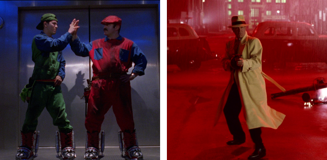 Super Mario Bros. (1993) and Dick Tracy (1990)