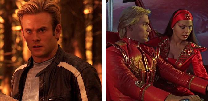 The 2007 Flash Gordon TV series (left) vs. the 1980 Flash Gordon film (right)