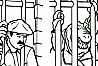 Prison Extended - Lizard Men in cell beside Mario Bros - Golden Super Mario Bros. Big Coloring Book